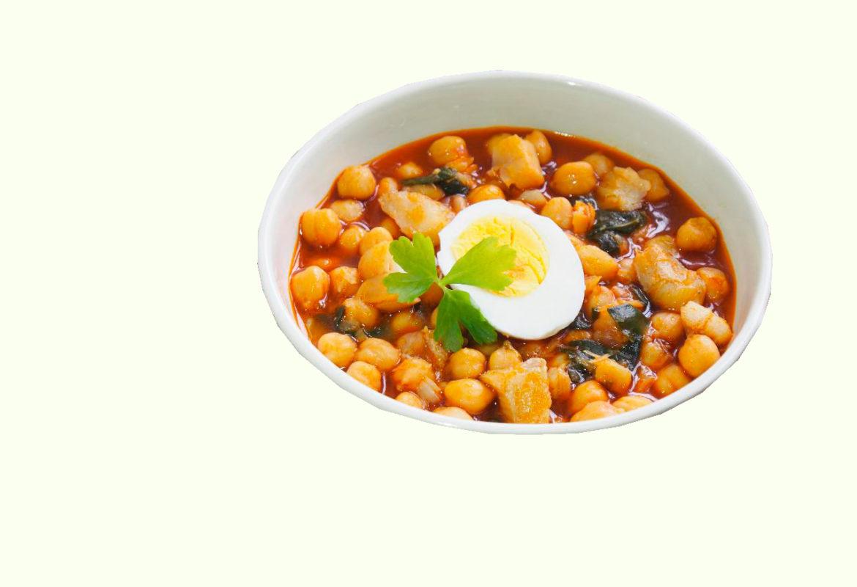 Кухня Мадрида - Рагу из нута, шпината, овощей, помидоров и специй - Potaje madrileño