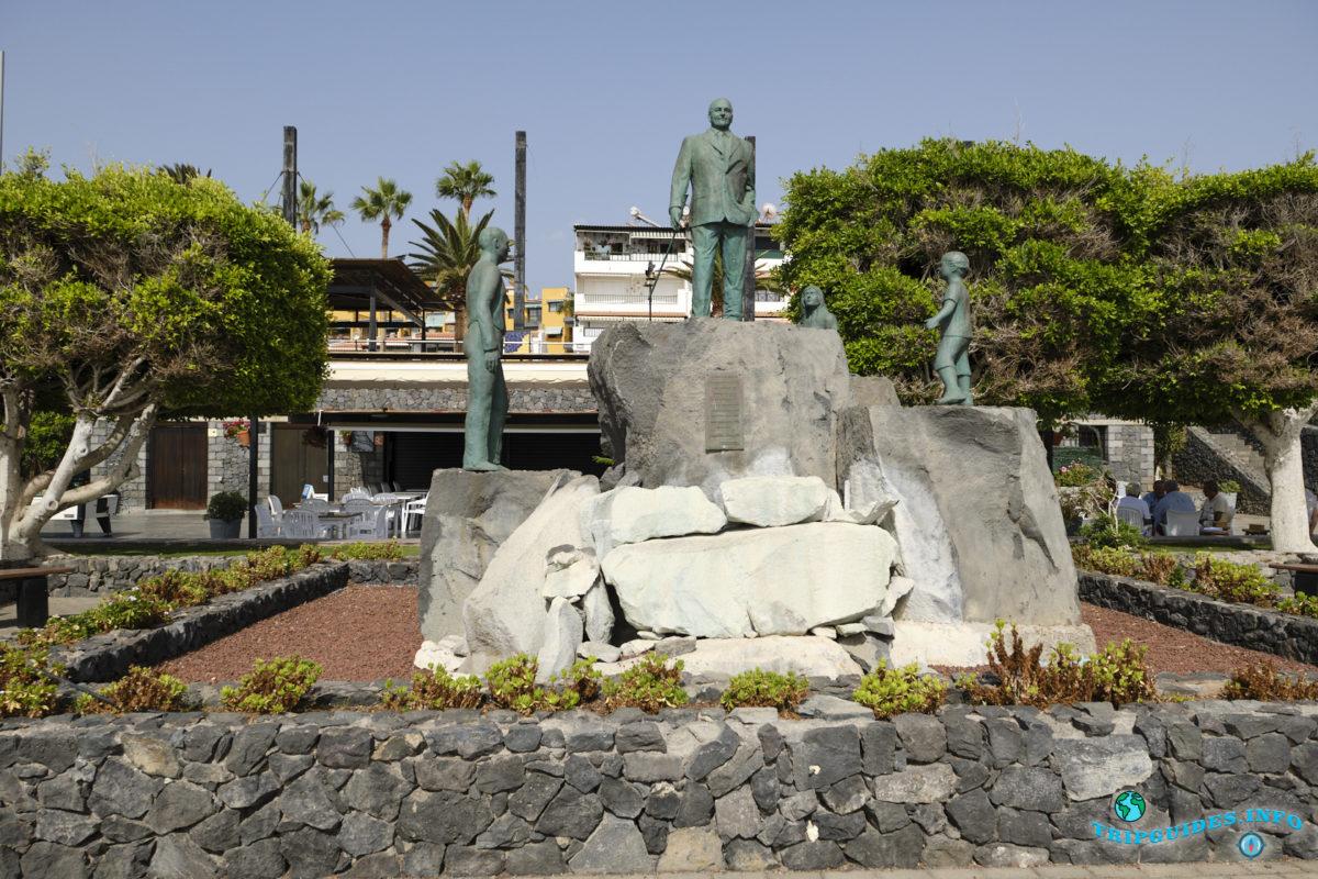 Памятник Панкрасио Сокас Гарсия в Пуэрто-де-Сантьяго Тенерифе - Канарские острова, Испания - Puerto de Santiago