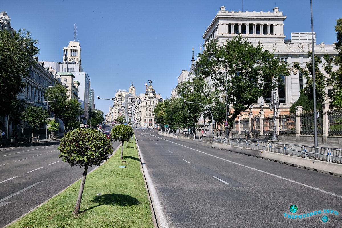 Улица Алькала (Calle de Alcalá) в Мадриде - столица Испании