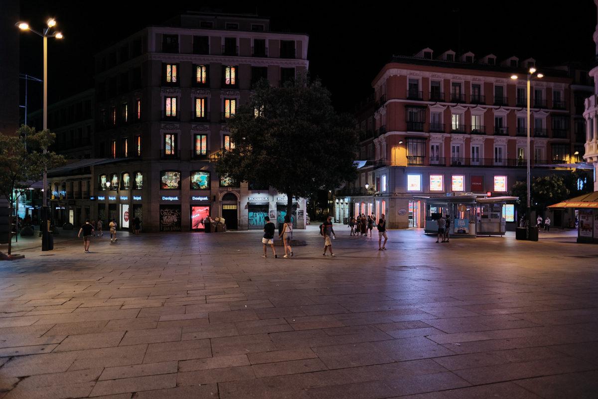 Улица Гран-Виа в Мадриде, столице Испании (Calle Gran Via)