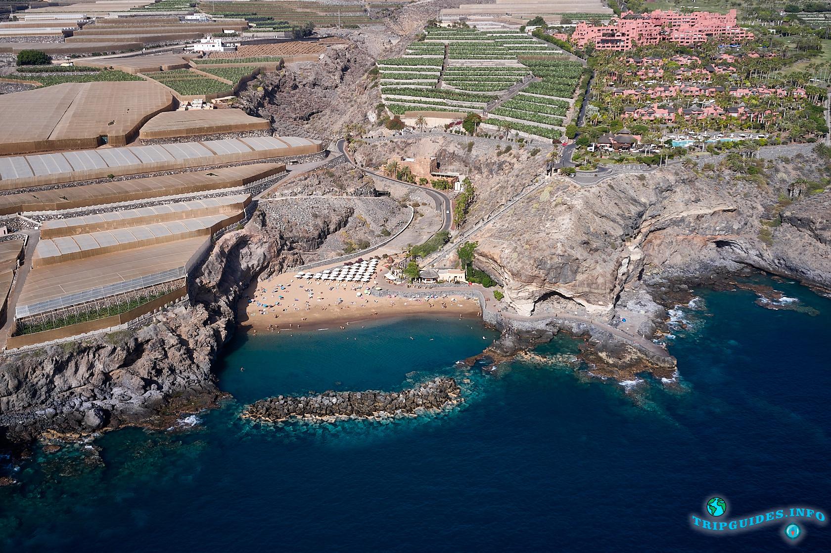 Пляж Абама (Playa de Abama) - пляж на Тенерифе (Канарские острова, Испания)