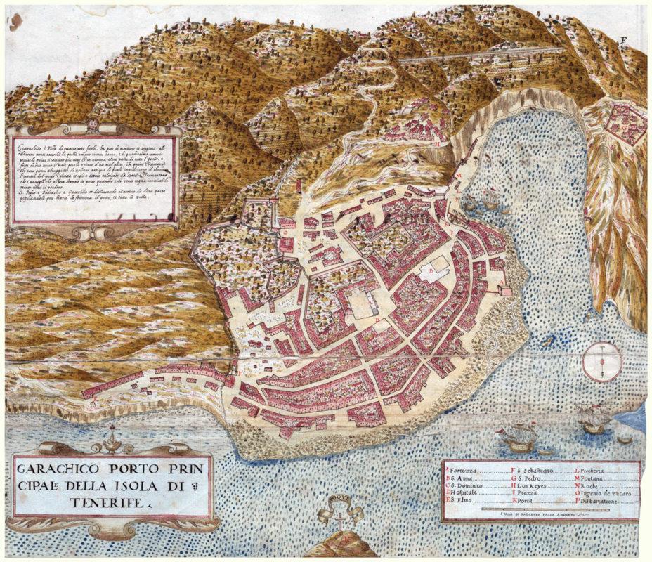 План города Гарачико, составленный Леонардо Торриани около 1588 г.