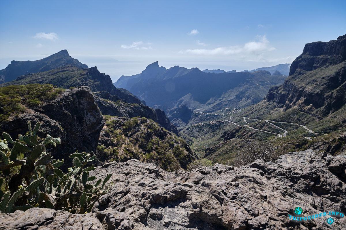 Смотровая площадка Маска в ущелье Masca на Тенерифе