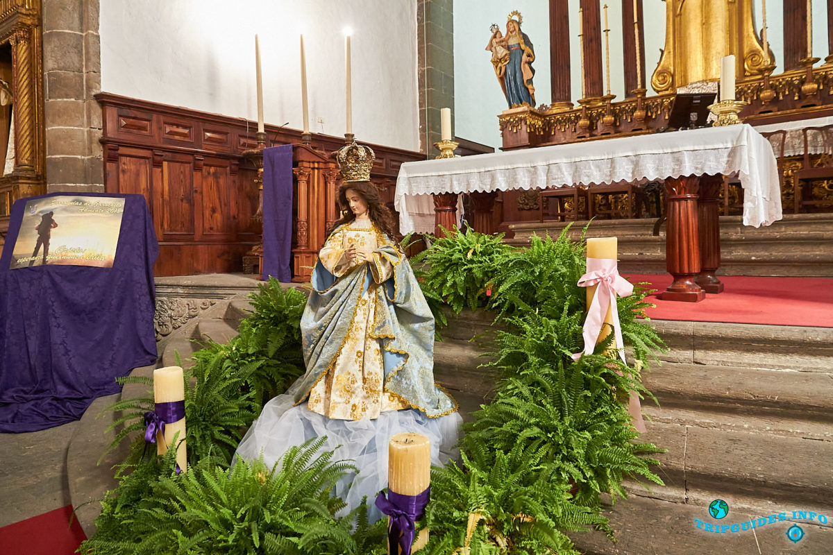 Церковь Святой Анны в городе Гарачико на севере острова Тенерифе (Канарские острова, Испания)