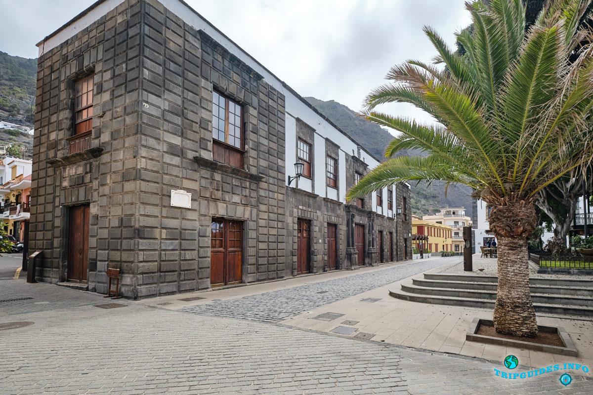 Дворцовый дом графов Ла Гомера (Casa de La Piedra) в городе Гарачико на севере острова Тенерифе (Канарские острова, Испания)