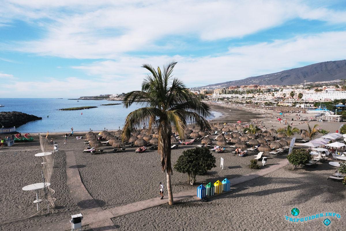 Новый год на Тенерифе - курорт Коста Адехе - Пляж Торвискас и пляж Фаньябе