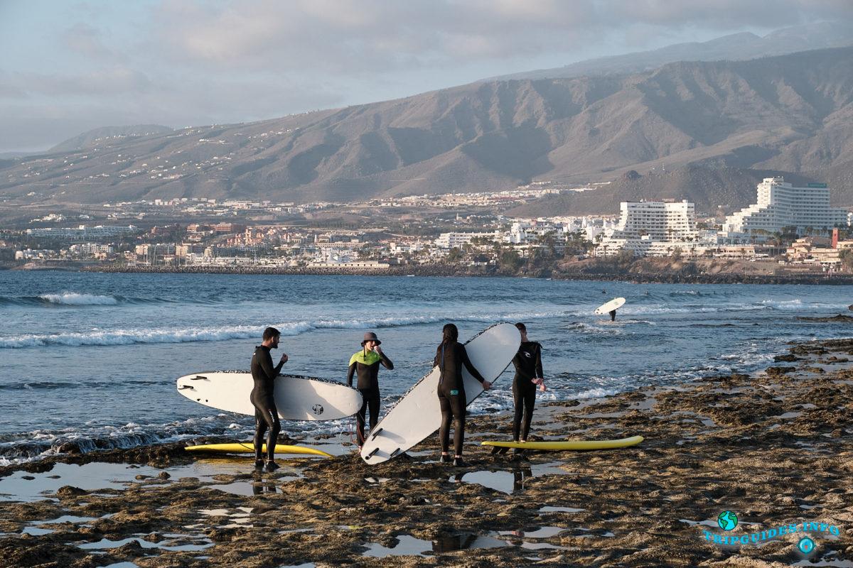 Новый год на Тенерифе - курорт Плайя-де-Лас-Америкас - Пляж Хонда и серфинг