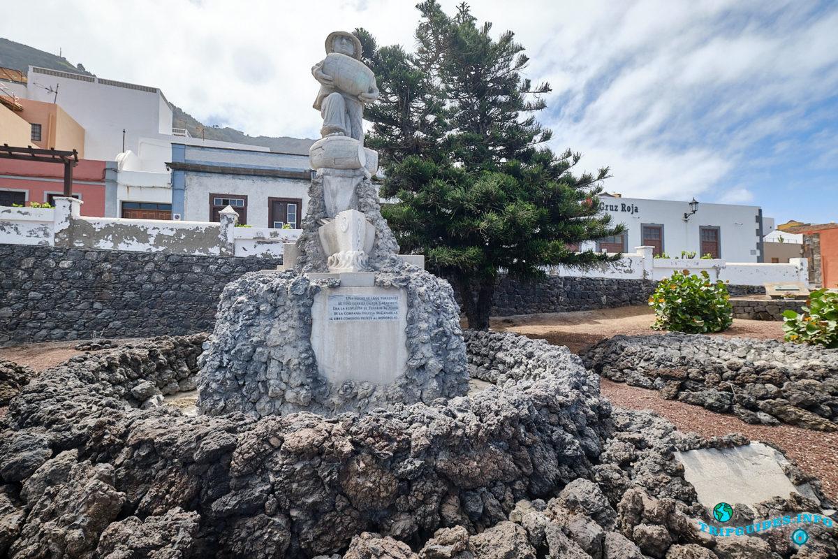 Памятник винной эпохи (Monumento al motin del Vino) в городе Гарачико на севере острова Тенерифе (Канарские острова, Испания)