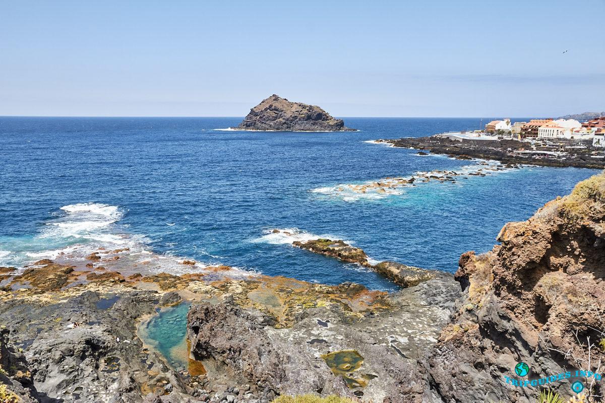 Природный бассейн Charco de Los Frailes в городе Гарачико на севере острова Тенерифе (Канарские острова, Испания)
