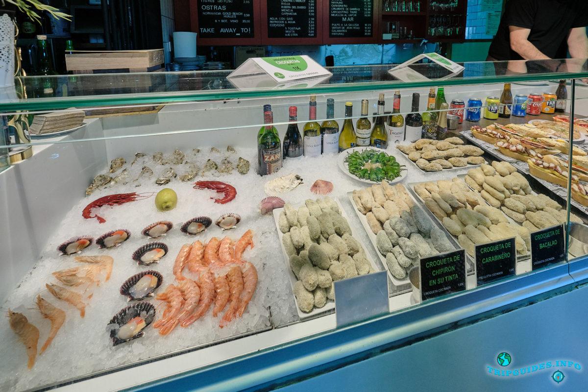 Рынок Сан-Антон в Мадриде, столица Испании - Mercado de San Antón