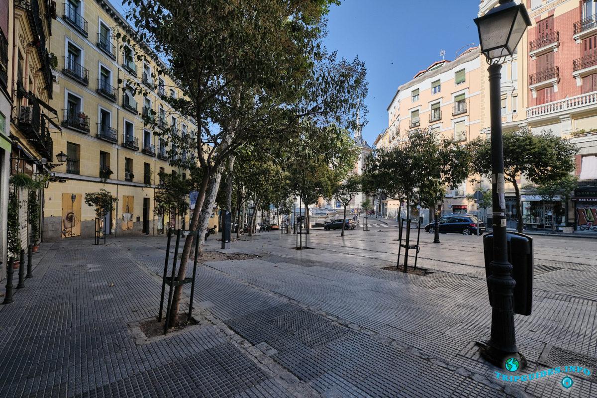 Уличный рынок Эль Растро в Мадриде, Испания