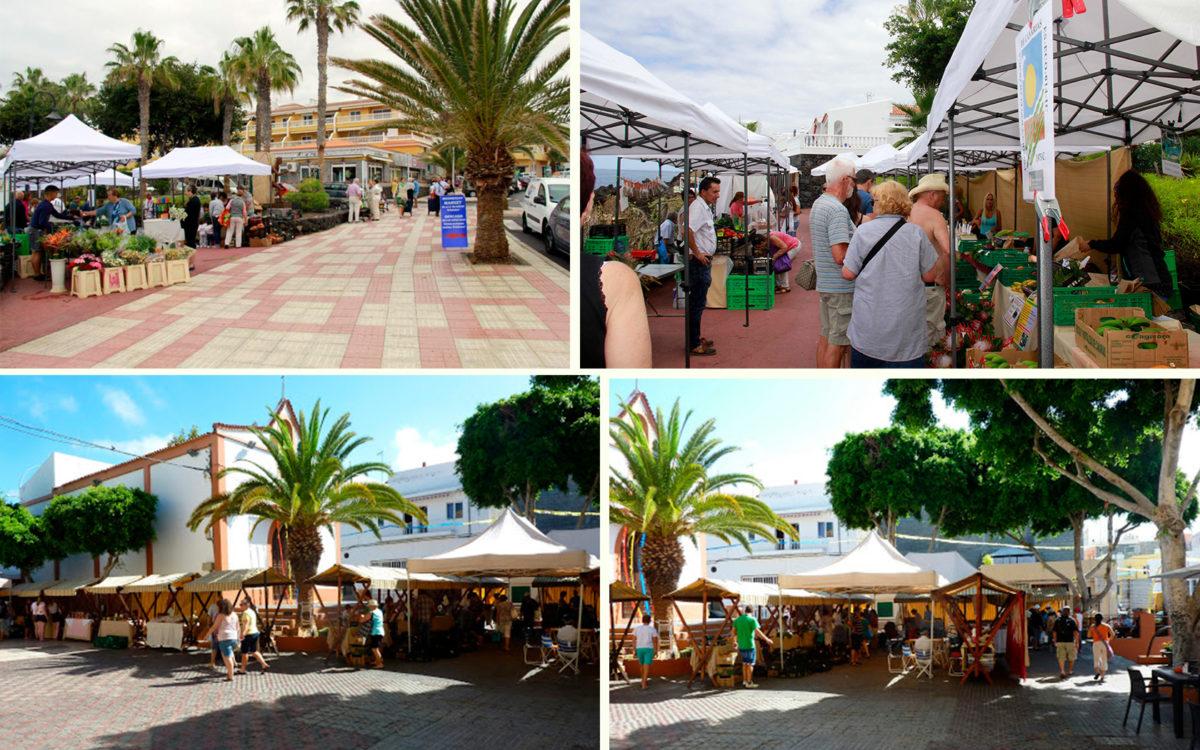 Фруктово-овощной рынок в Плайя-Сан-Хуан на Тенерифе - Канарские острова, Испания