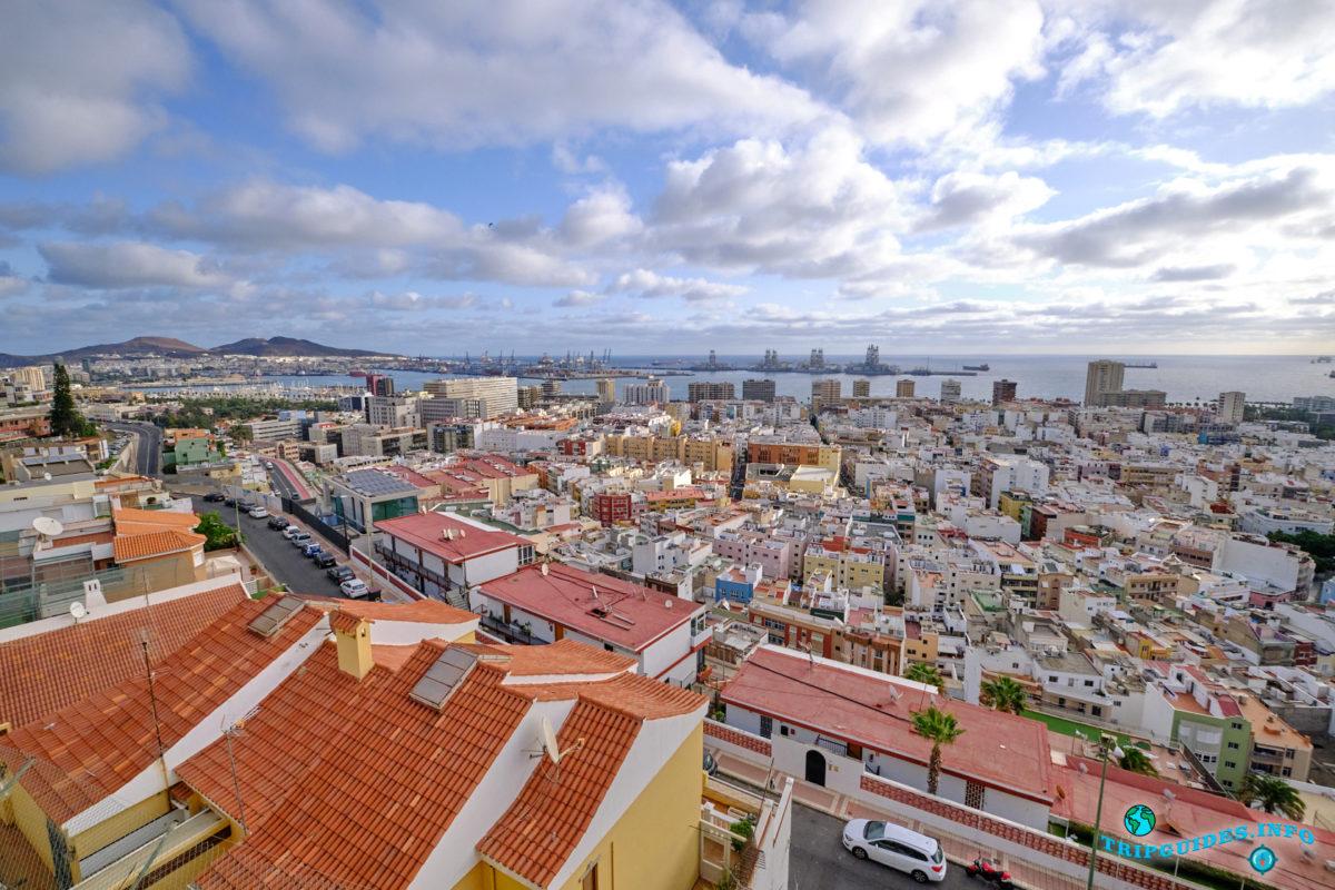 Столица Лас-Пальмас-де-Гран-Канария на острове Гран-Канария, Испания