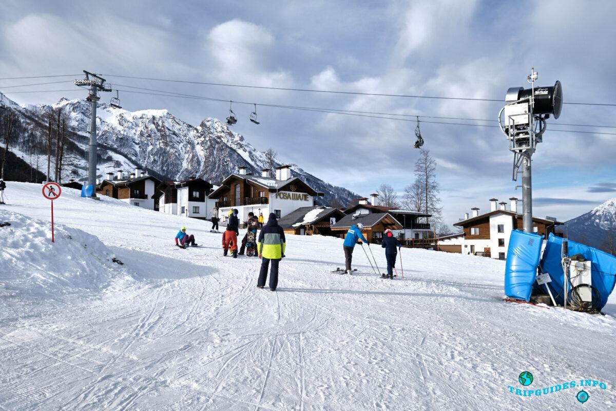 Отдых в России - Горнолыжный курорт Красная Поляна - Катание на лыжах