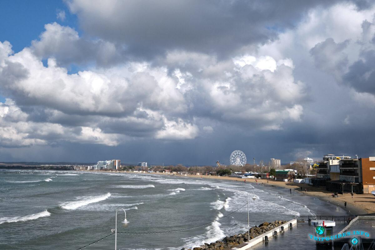 Отдых в России - Анапа - Вид на пляж Золотой песок