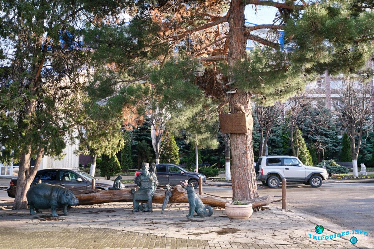 Памятник Айболиту в городе Анапа - Краснодарский край, Россия