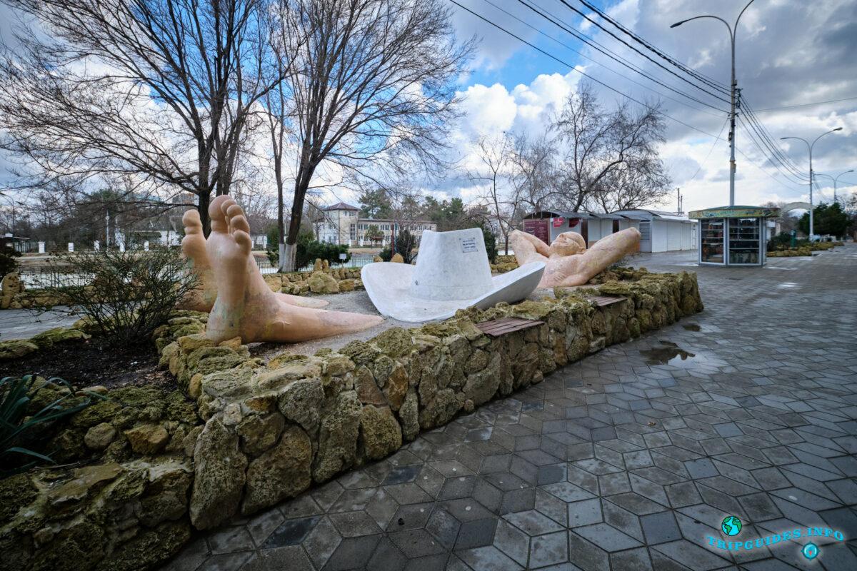Памятник Туристу в городе Анапа - Краснодарский край, Россия