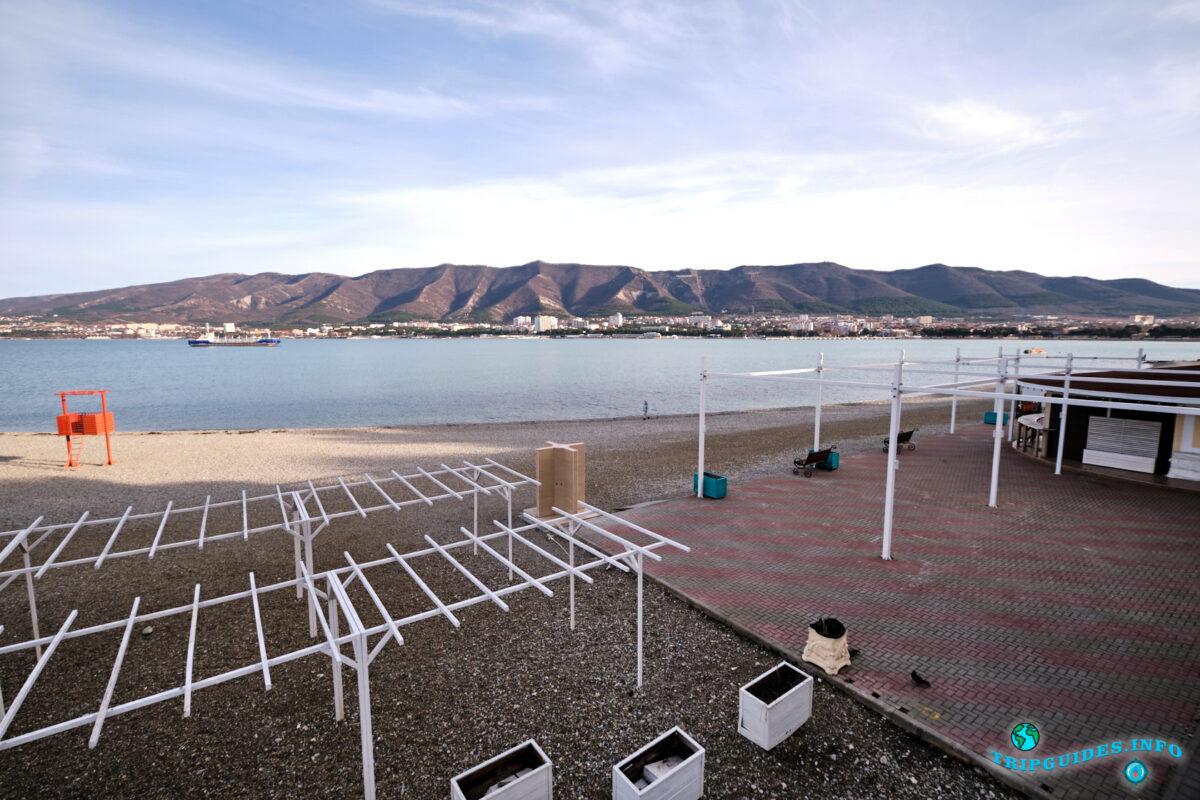 Пляж Сады Морей в Геленджике