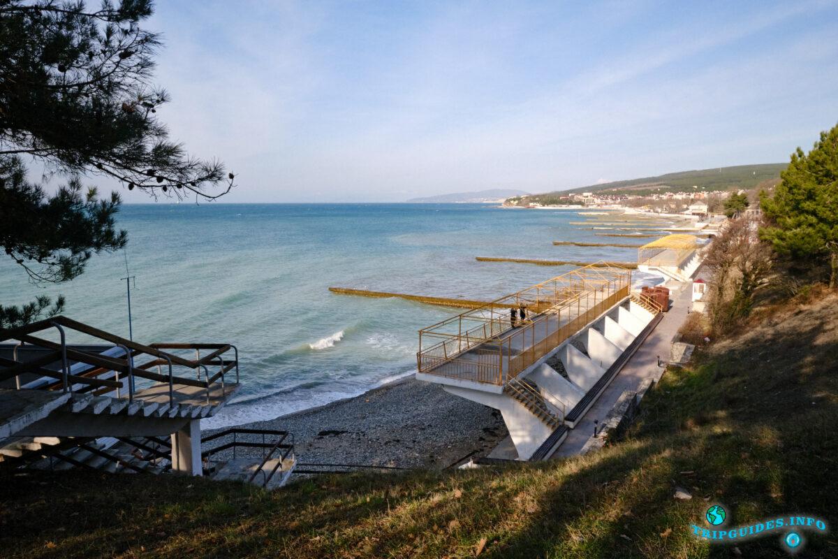 Пляжи в Дивноморское - рядом с Геленджиком