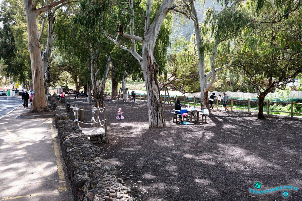 Зона отдыха Kiosco El Parque в Сантьяго-дель-Тейде на Тенерифе - Испания