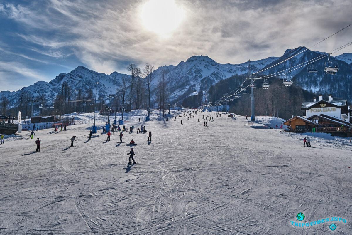 Лыжи на Красной Поляне - Россия