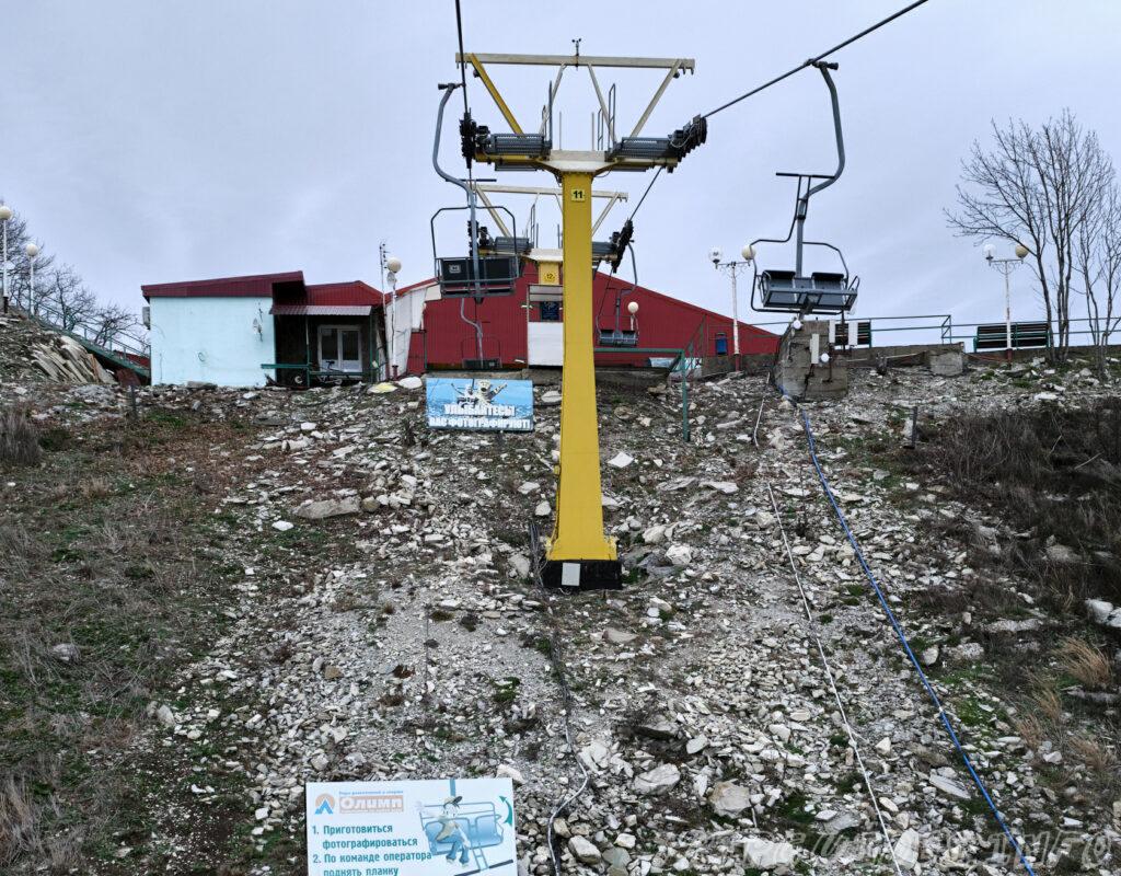 Верхняя станция канатной дороги, подъём - Парк Олимп в Геленджике