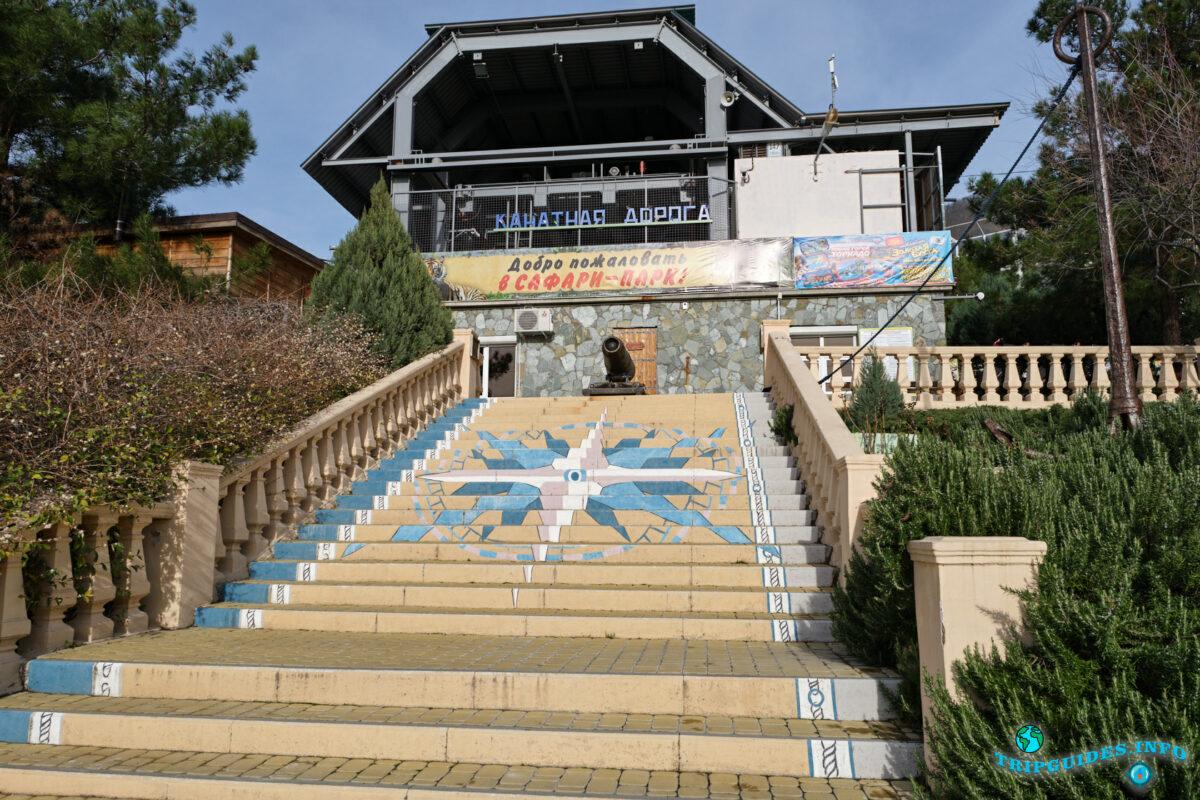 Нижняя станция - Канатная дорога в Сафари-парке Геленджик