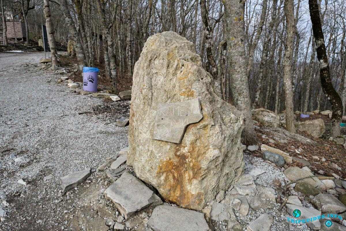 Камень удачи - Аллея сказок в Верхнем парке Сафари-парка Геленджик