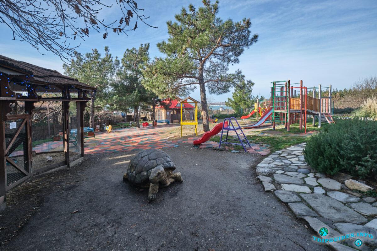 Детский дворик в зоопарке в Сафари-парк Геленджик