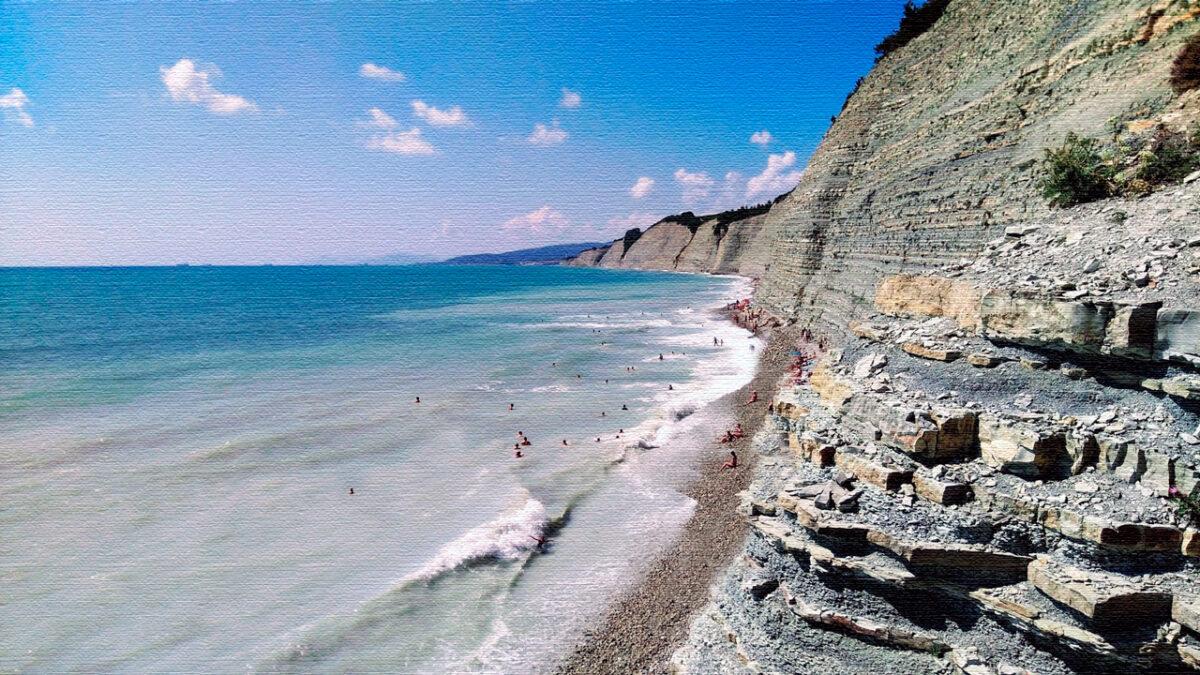 Дикий пляж «Круча» Геленджик