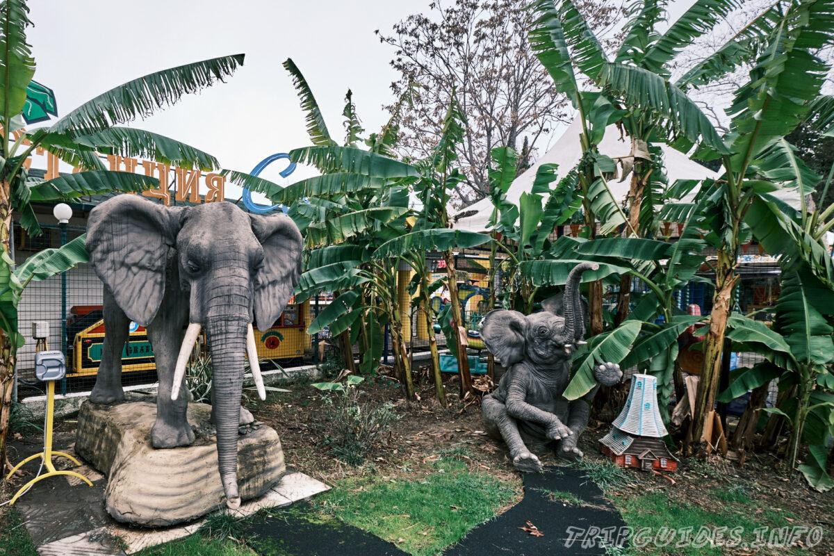 Статуи животных - Парк Ривьера в Сочи