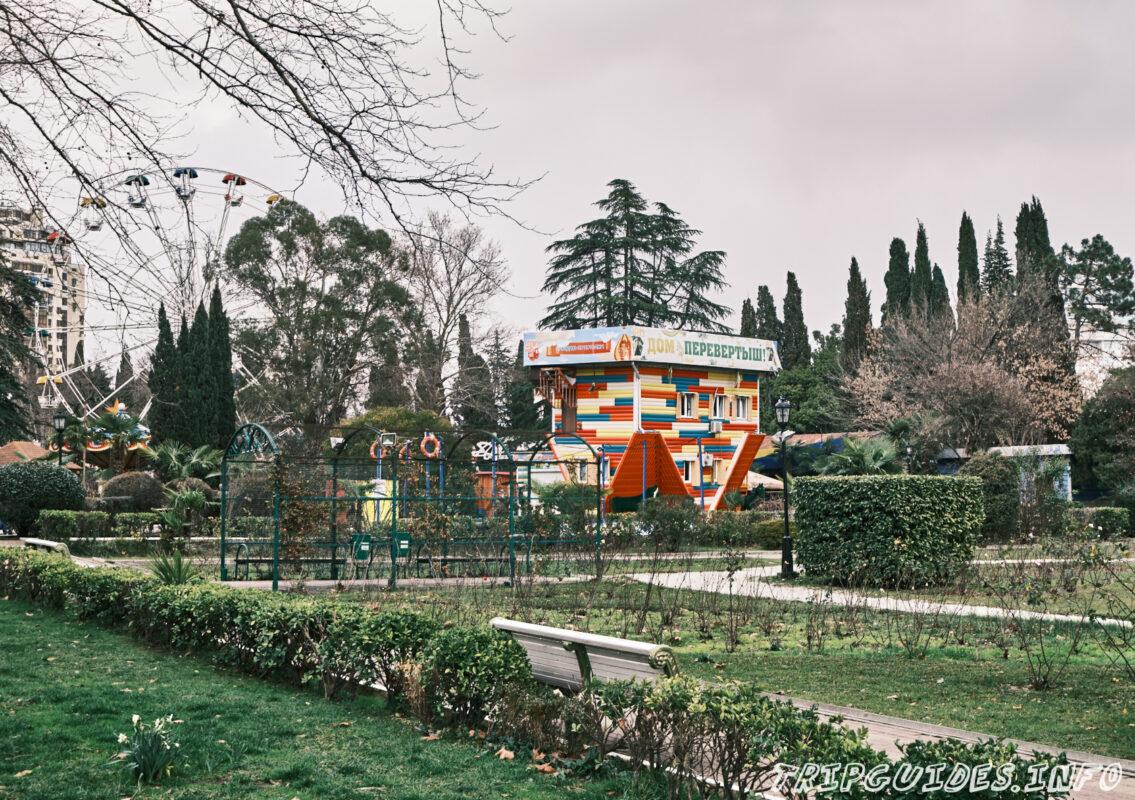 Дом перевертыш (вверх дном) - Парк Ривьера в Сочи