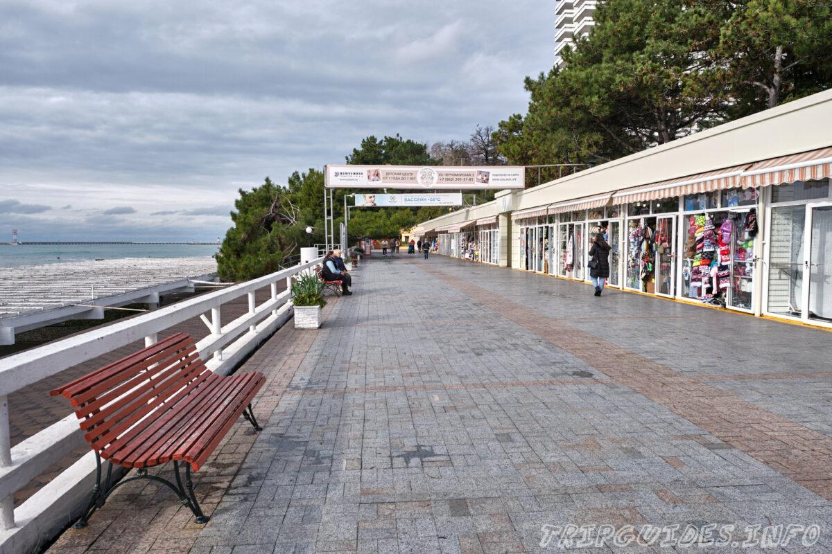 Приморская улица - главная городская набережная города Сочи