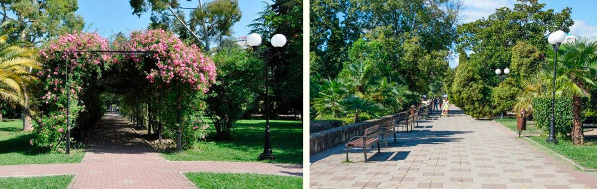 Приморский парк в Сочи