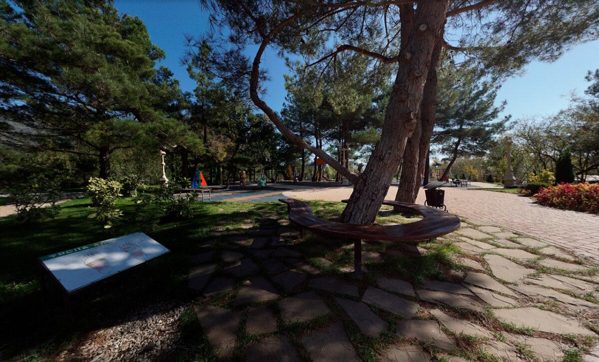 Андреевский парк в Геленджике - юг России - отдохнуть в тени