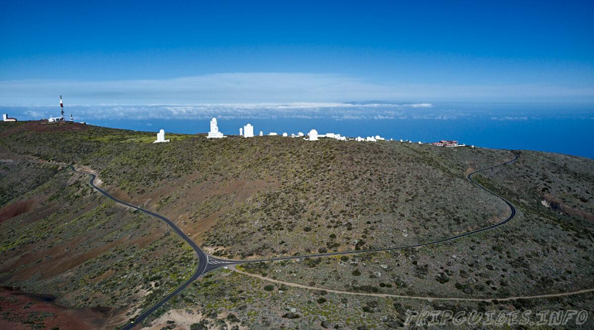 Обсерватория Тейде на Тенерифе - с высоты птичьего полета
