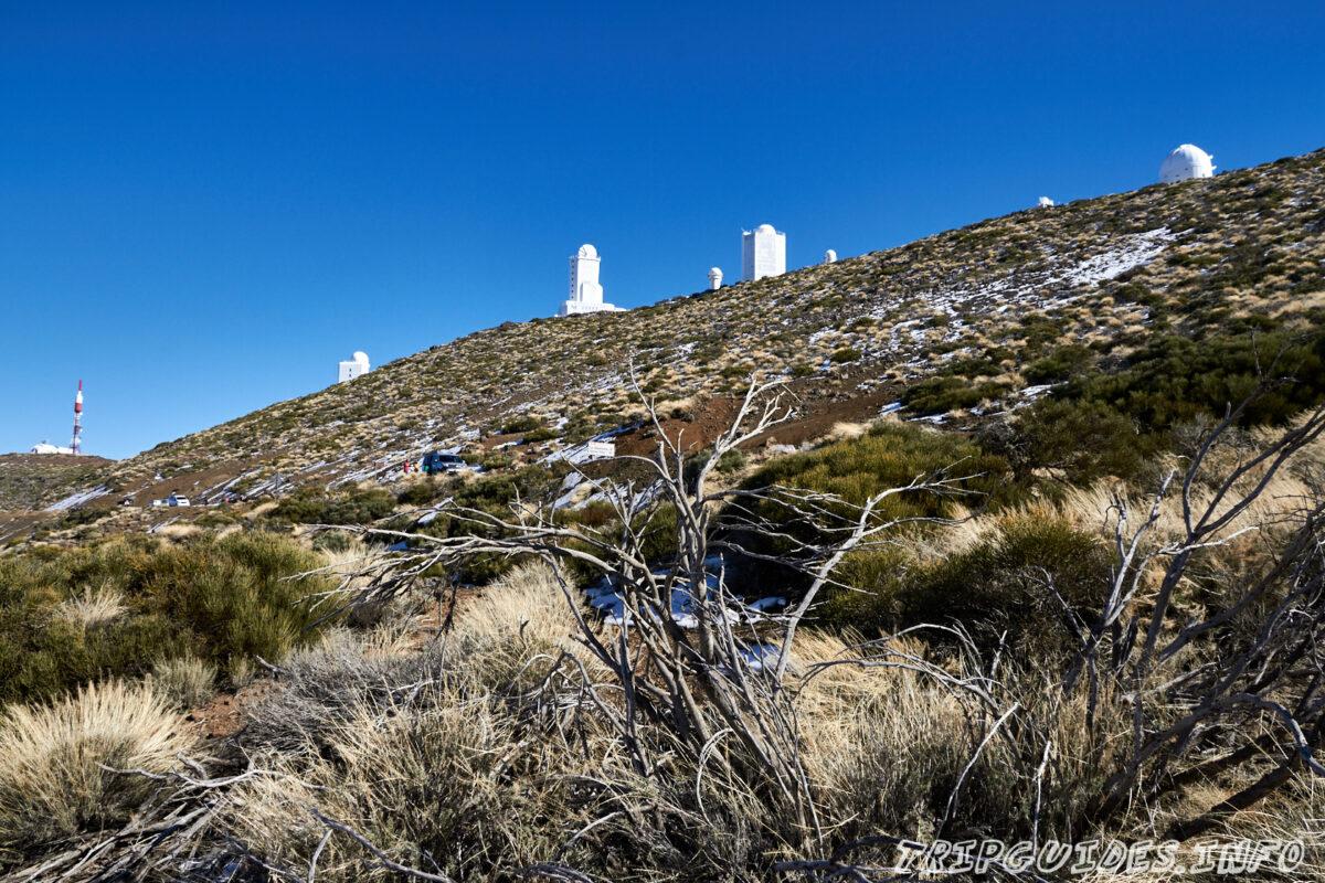 Обсерватория Тейде на Тенерифе зимой