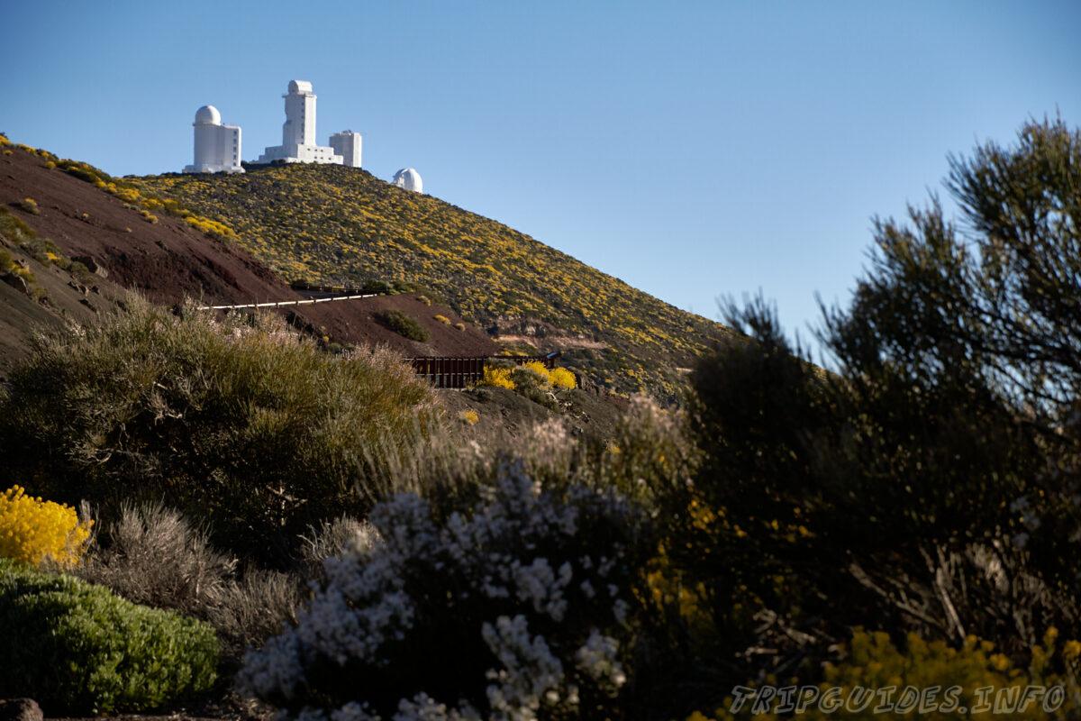Обсерватория Тейде на Тенерифе весной