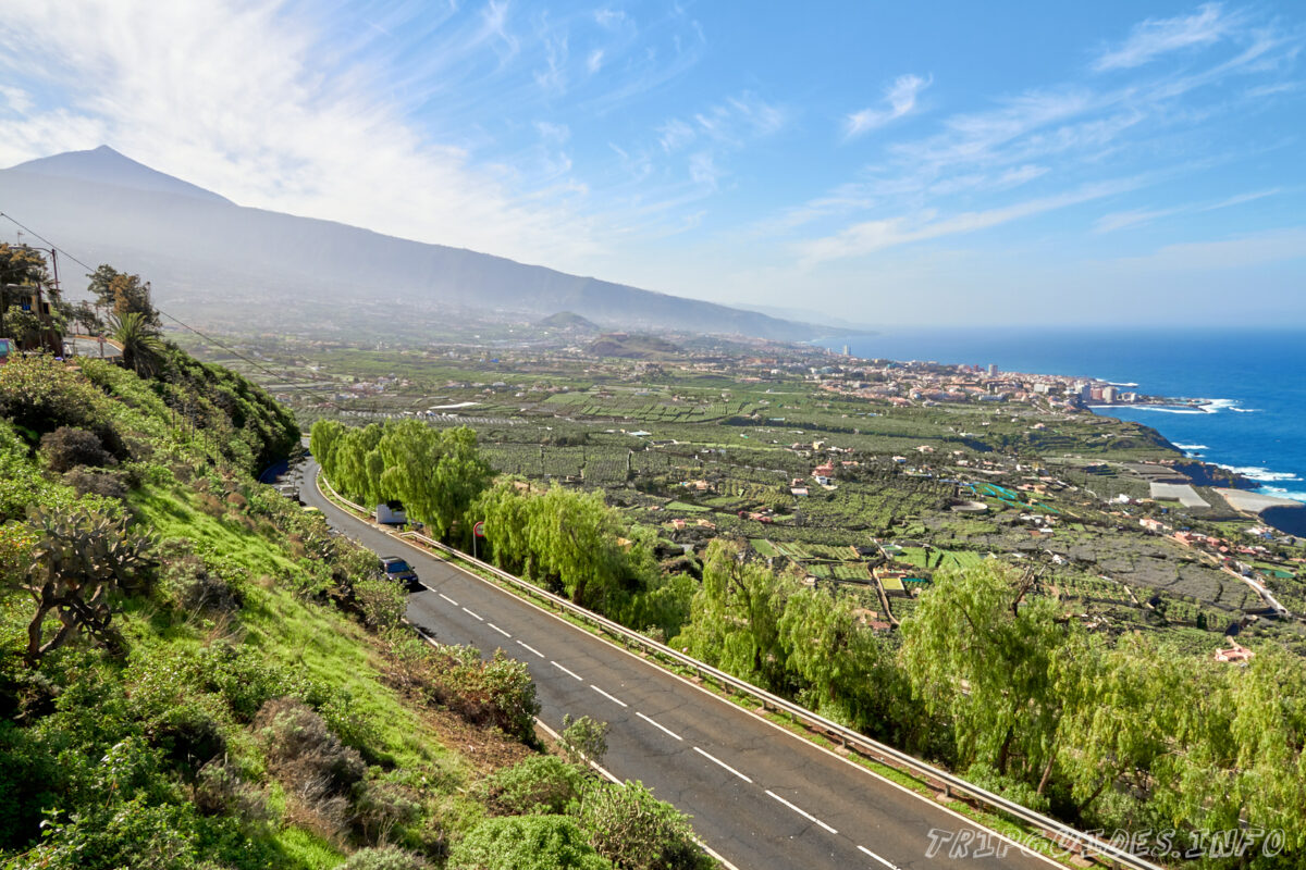 Долина Ла-Оротава на Тенерифе в Испании