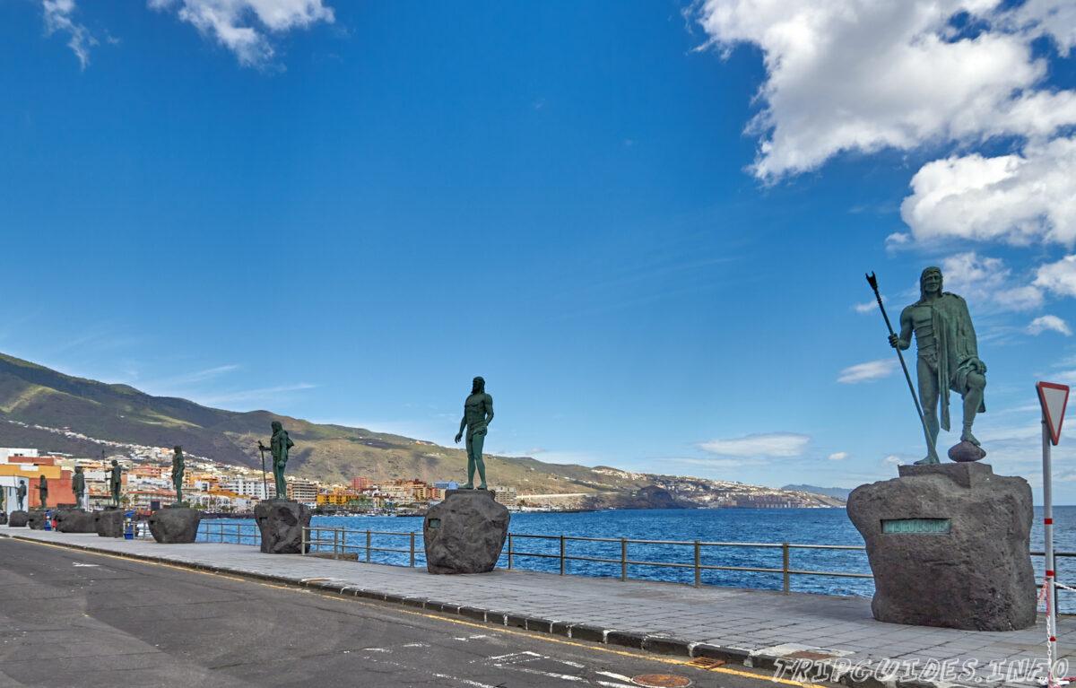 Статуи гуанчей (королей аборигенов) в Канделарии - История Тенерифе