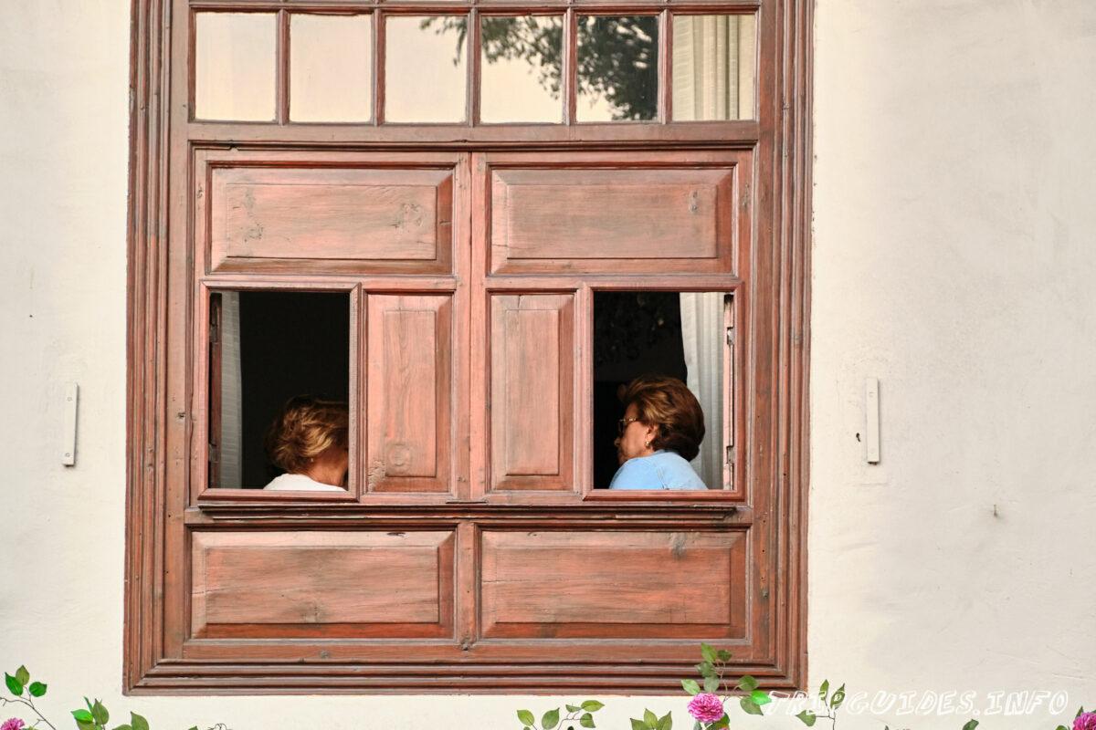 Окна в Икод-де-Лос-Винос на Тенерифе в Испании