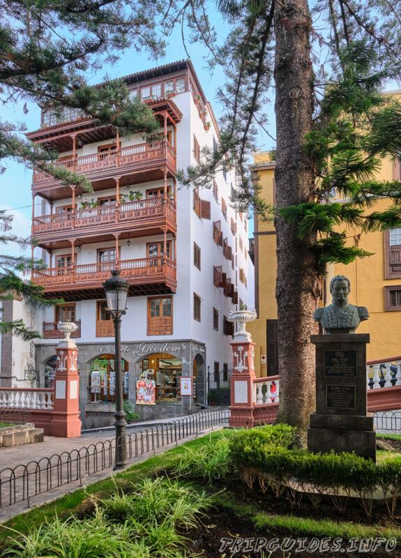 Канарские балконы в Икод-де-Лос-Винос на Тенерифе в Испании