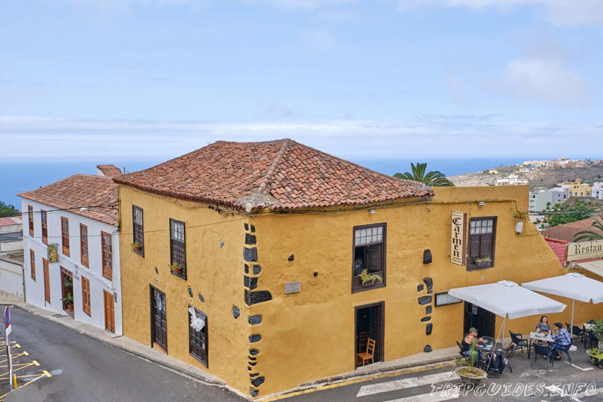 Архитектура в Икод-де-Лос-Винос на Тенерифе в Испании